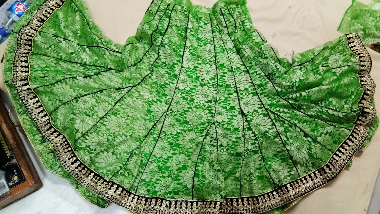 DIY. How to cutting stitching Anarkali Lahnga. 56 Kaliyon wala with piping