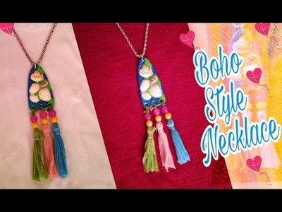 DIY How to make Boho Style Necklace. Tassel Necklace