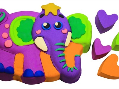 DIY How To Make Color Elephant,  Learn Color and Sizes Kinetic Sand Elephant Kinetic Sand