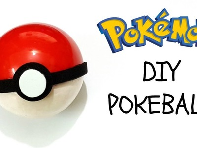DIY How to make Pokeball.Pokemon.Pokemon go