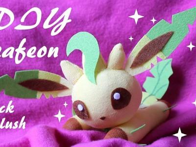 ❤ DIY Leafeon Sock Plush!  How To Make A Cute Pokemon Plushie! ❤