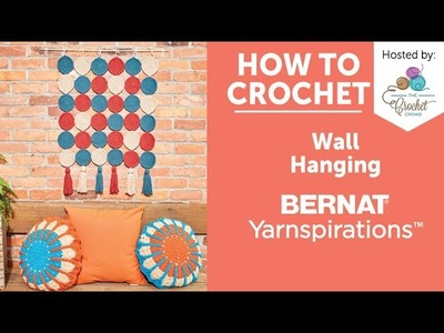 How to Crochet a Wall Hanging: Round In Circles Crochet Wall Hanging