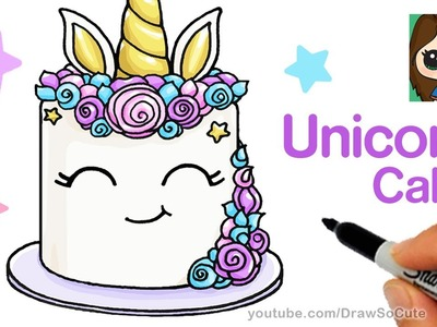 How to Draw a Unicorn Cake Easy