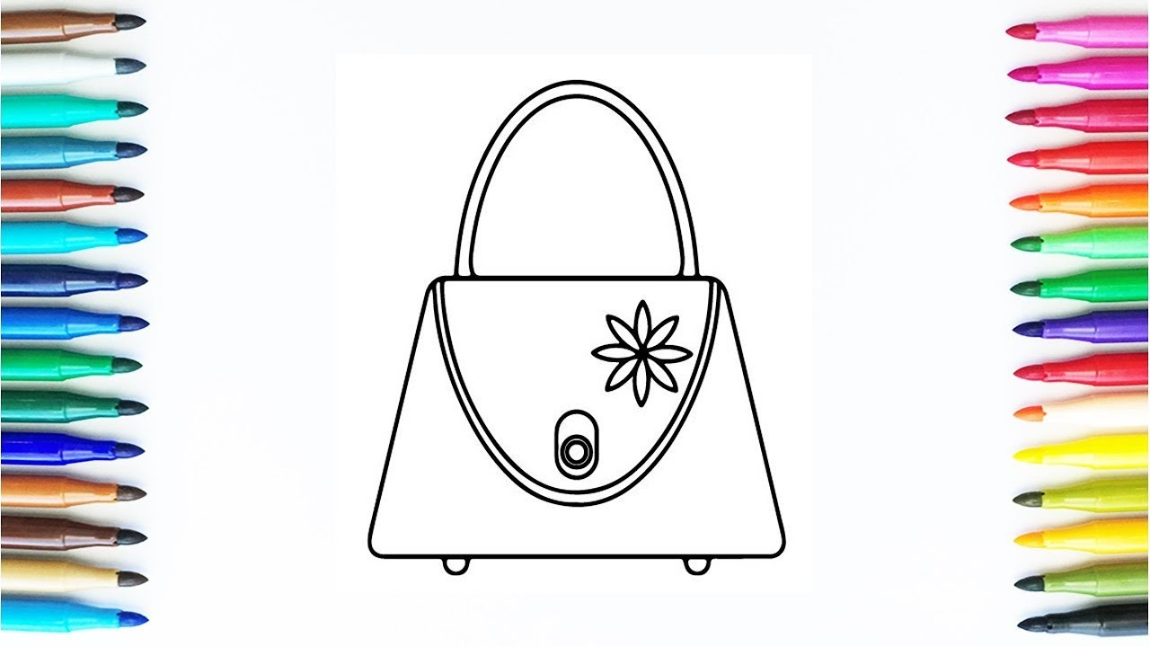 How To Draw Handbag For Girls Drawing And Colours For Childrens