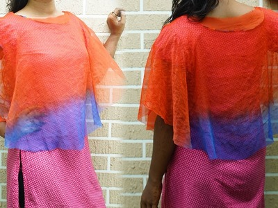 How To Make A Circular Cape With Old Dupatta  | DIY | Refashion Clothes - DIY Crafts