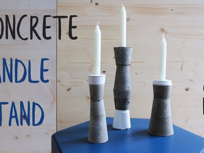 How to make a CONCRETE CANDLE STAND