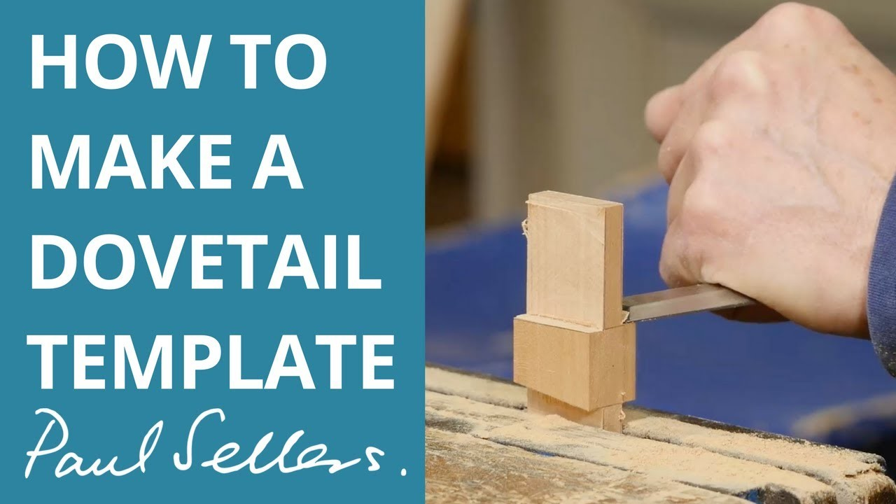 How to make a dovetail template paul sellers for Dovetail template maker