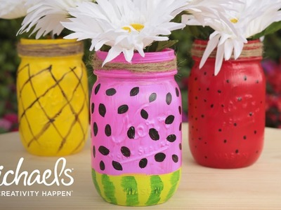 How to Make a Fruit Mason Jar | Michaels