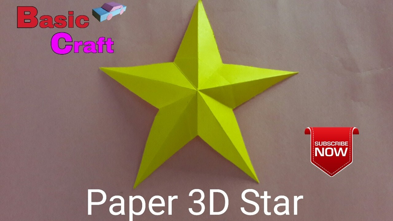 How to make a paper 3d star easy method 3 for How to make 3d paper stars easy