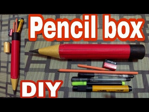 How to make a paper pencil box
