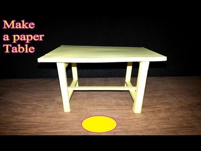How to make a paper Table DIY