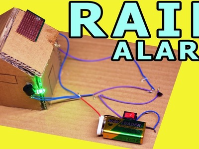 How to make a Rain Detactor at home - Life hacks