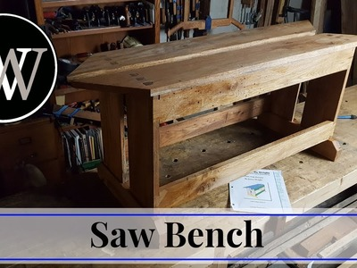 How To Make A Saw Bench. Hand Tool Woodworking project