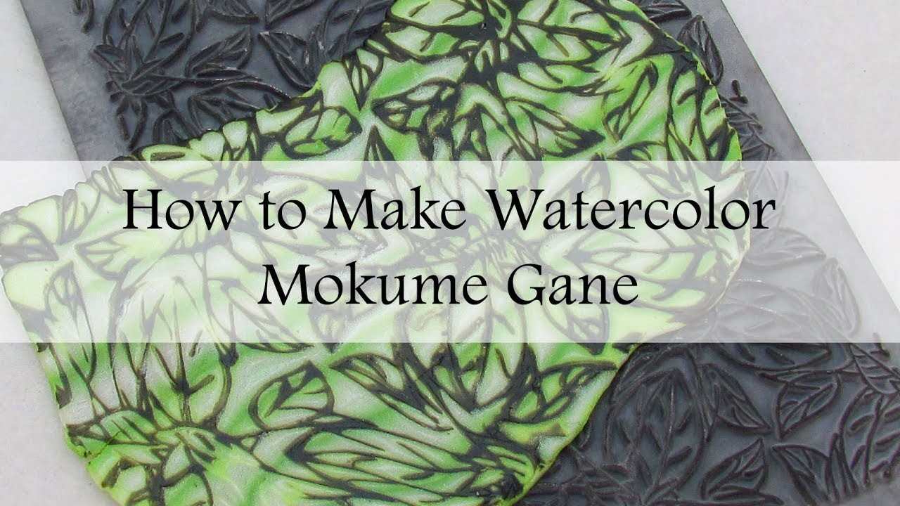 How to Make a Watercolor Mokume Gane (a variation on the hidden magic technique)
