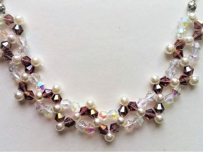 How to make  an easy beaded pattern for bracelet and necklace