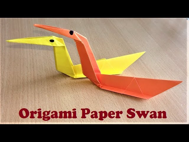 how to make an origami paper swan very easy tutorial