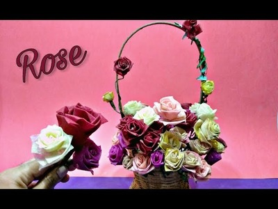 How to make Beautiful organdy cloth using rose origami easy.paper rose.craft cloth flowers roses diy