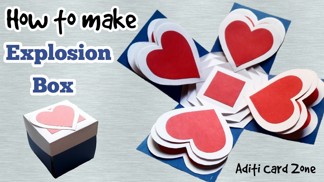 Card how to make explosion box step by step raksha for How to build box steps