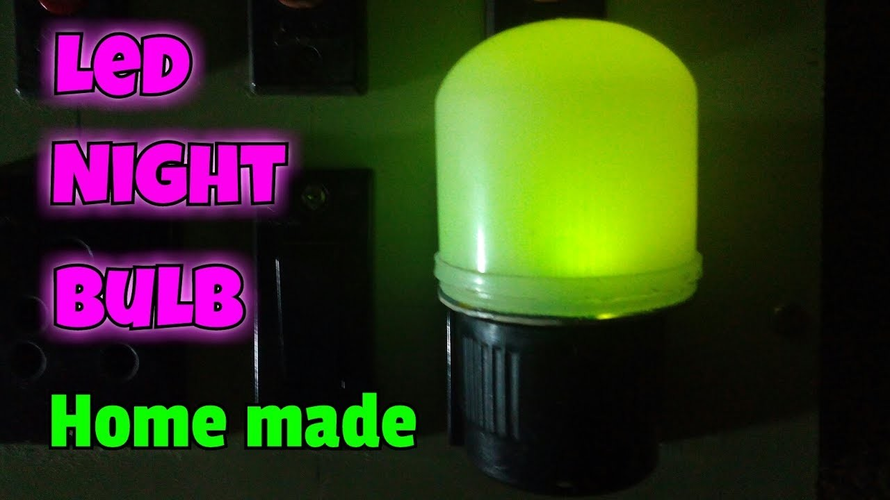 How To Make LED Night Lamp. Make LED Night Light Lamp At Home. Simple Led  Lamp Circuit. Easy To Make