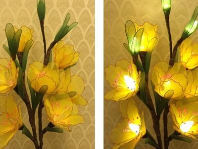 How to make nylon stocking flowers - Gladiolus with light