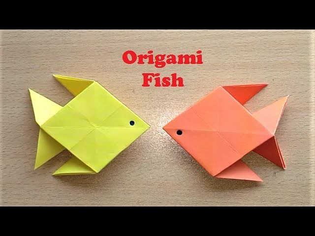 how to make origami paper fish very easy paper fish On how to make paper fish