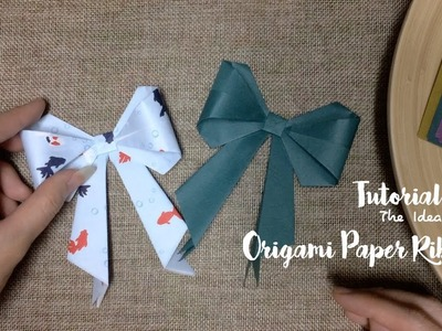 How to Make Origami Paper Ribbon Step by Step? | The Idea King Tutorial #7