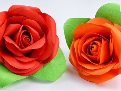 How to make REAL ROSE of paper. Paper Crafts