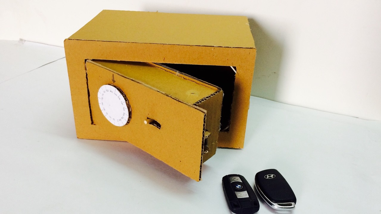 How To Make Safe With Combination Lock From Cardboard My