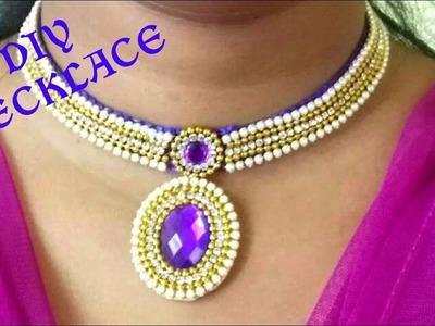 How to make silk thread Necklace using silk thread