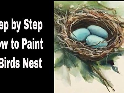 How to paint a Bird's Nest: MIMI'S SKETCHBOOK