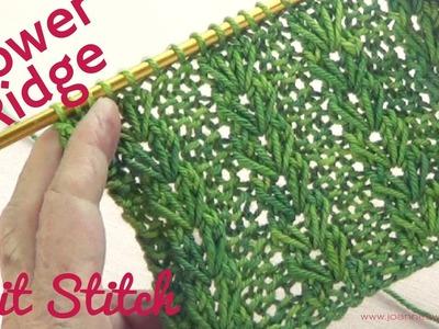 Knitted Flower Ridge Stitch - Heart Shaped Knitting Stitch