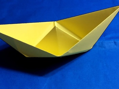 ( Origami Boat ) - How To Make Easy Paper Boat.