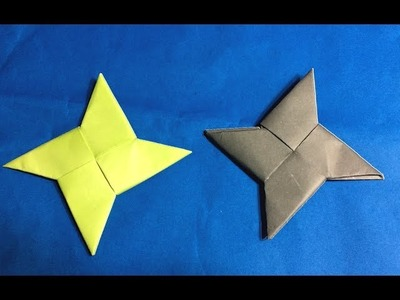| Origami Ninja Star | ★ How To Make Easy Paper Real Ninja Star ★