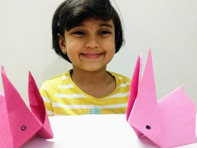 Origami Rabbit. Bunny,  How to make Origami Rabbit step by step for Kids
