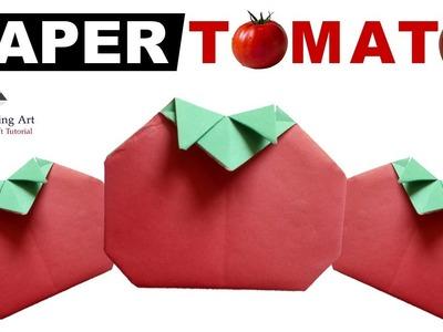Origami Tomato-How To Make Origami Tomato-Paper Tomato-Red Tomato-Tomato Tutorial-Paper Folding Art