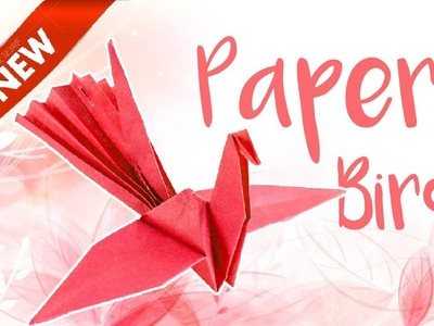 Paper Bird - Crane - How To Make an Origami Flapping Paper Bird | DIY | Step by Step-Easy-Tutorials