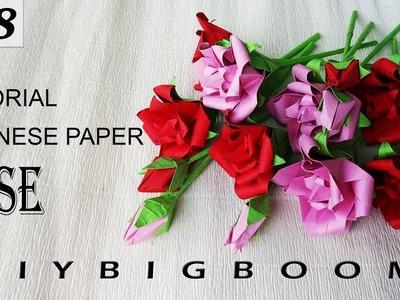 Paper flowers tutorial #38 | How to make paper flowers easy step by step | Diy BigBoom