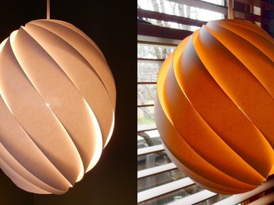 Swirl pendant lamp - how to make a spiral paper lampshade.lantern - EzyCraft