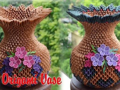 Origami 3d Origami Vase V1 Paper Flower Vase Handmade Decoration