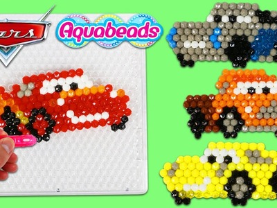 AquaBeads Disney Pixar Cars 3 Lightning McQueen Mater DIY Magic Beads Design!