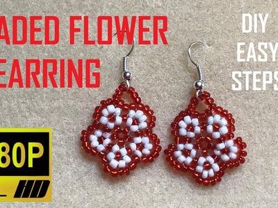 Beaded Flower Earring, DIY