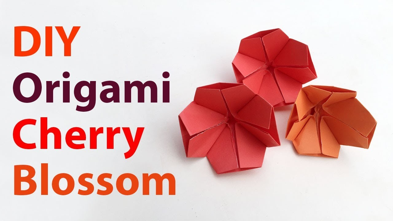 beautiful origami cherry blossom how to make an easy