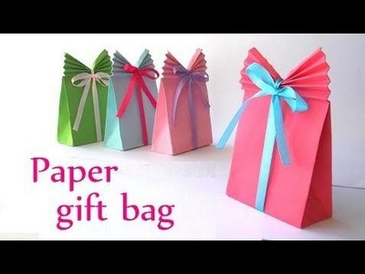 Birthday party paper DIY crafts: Paper GIFT BAG (Easy) - Innova Crafts