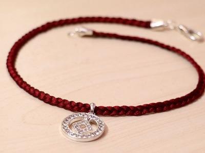 DIY Choker Necklace | Silk Thread Jewellery Making | Silk Thread Choker Necklace