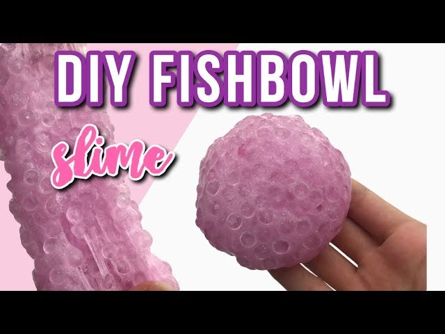 DIY Crunchy Fishbowl Slime! (with and without borax)