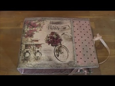 DIY dress a box file with butcher paper 1.Ντύνω κλασέρ με χασαπόχαρτο 1