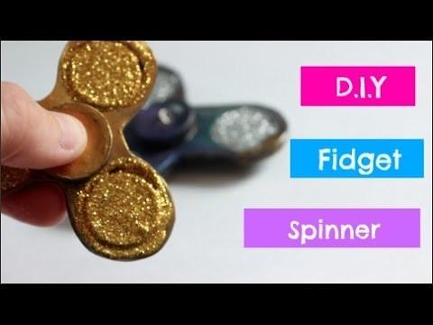 DIY Fidget Spinner No Bearings!   Polymer Clay