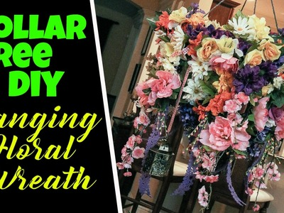 ????????????DIY Hanging Flower Wreath Dollar Tree & Joann's Flowers