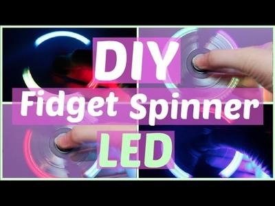 DIY LED Fidget Spinner with Bearing Caps! Easy, Cheap Spinner