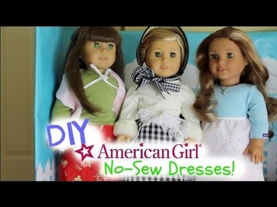 DIY No-Sew Dresses for American Girl Felicity!
